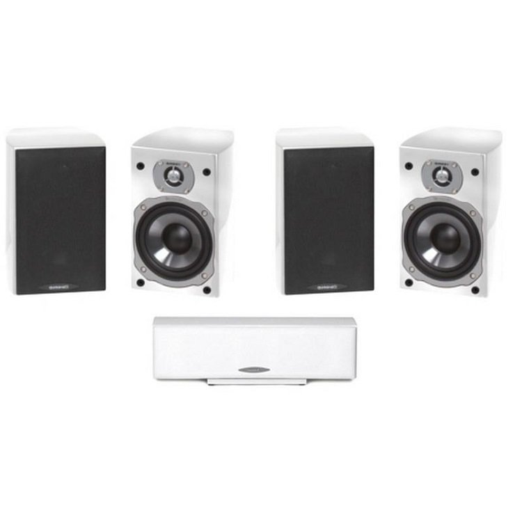 quadral_chromium_style_5_0_weiss_White_Altavoz_Estantería_+_Altavoz_central