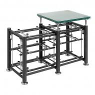Exoteryc-Rack-(3+3-levels)+Glass-Turntable-Platform