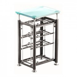Exoteryc-Rack-(4-levels)-+-Glass-Turntable-Platform