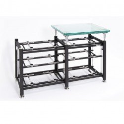 Prestige_Rack_(3+3-levels)_+_Glass_Turntable_Platform