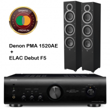 denon-1520-elac-f5
