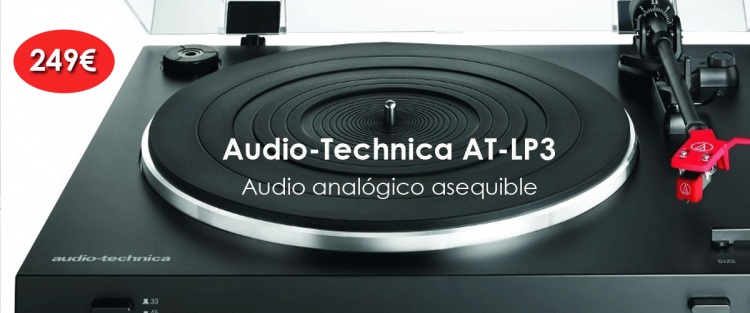 Giradiscos Audio-Technica AT-LP3 por 249€
