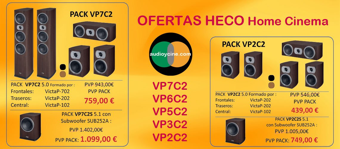 Ofertas-altavoces-Heco-Victa-prime-conjuntos VP7 y VP2-audioycine