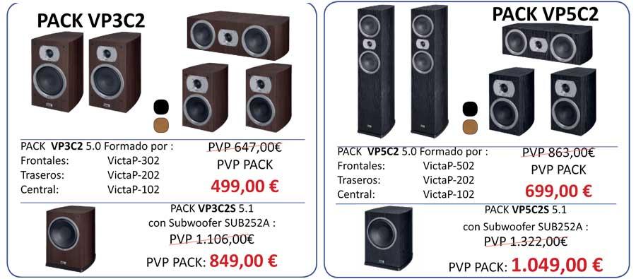 Ofertas-altavoces-Heco-Victa-prime-conjuntos VP3 y VP5
