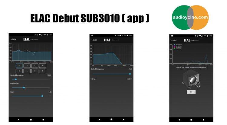 Elac-Debut-SUB3010-app-control-desde-móvil
