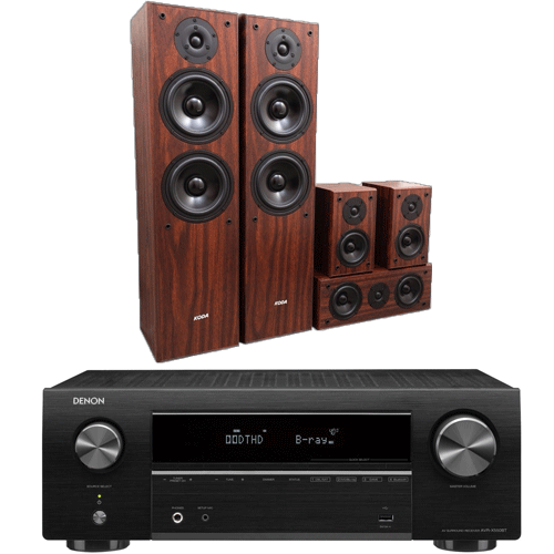 PACK-ALTAVOCES-KODA-AV707-walnut-denon-avr-550bt