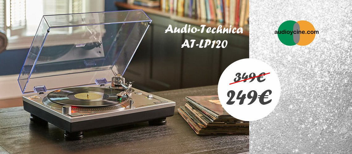 Giradiscos-AUDIO-TECHNICA-AT-LP120-AUDIOYCINE
