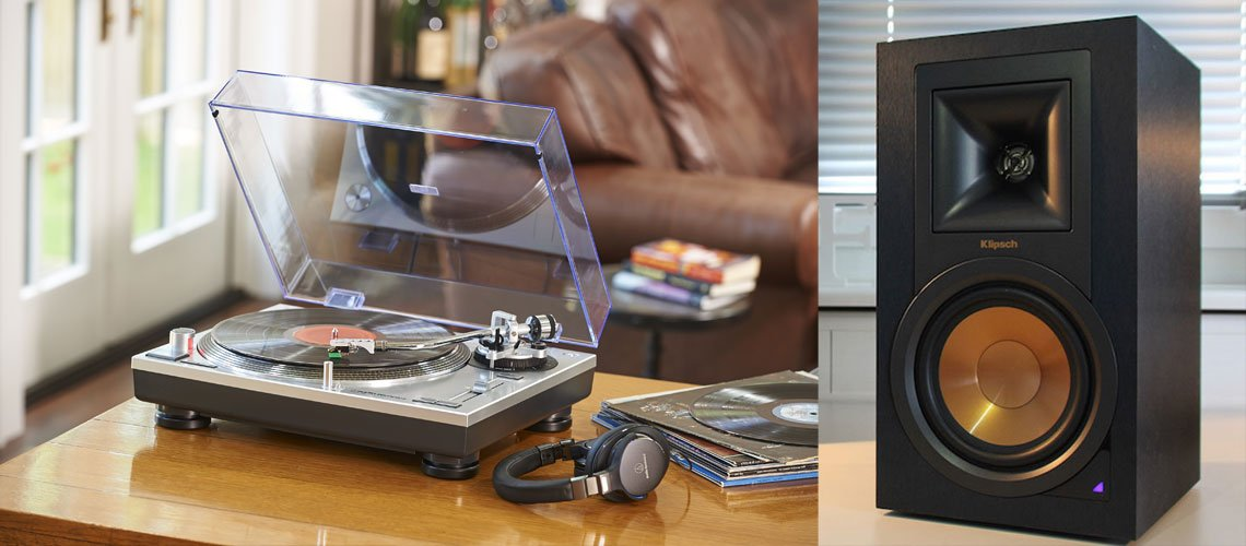 tocadiscos-audio-technica-klipsch-altavoces