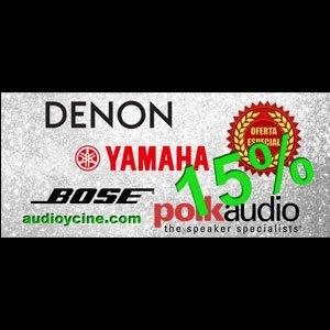 Denon, Yamaha, Polk Audio, Bose. ¡Ahora es el momento!
