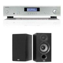 amplificador-ROTEL-A11-ELAC-B52-altavoces
