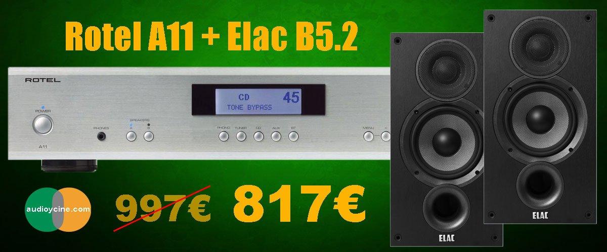 Rotel-a11-elac-b52-817-amplificador-altavoces
