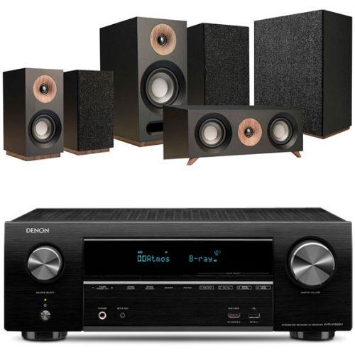 Denon-1500h-jamo-s803hcs-sub808-BLACK-home-cinema