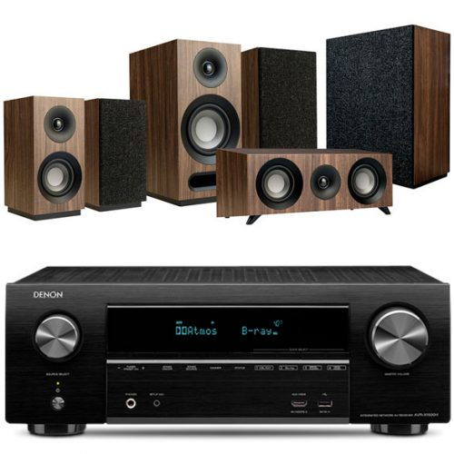 Denon-1500h-jamo-s803hcs-sub808-walnut-home-cinema