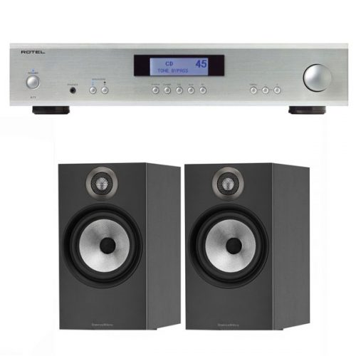 pack-estereo-rotel-a11-silver-bw-606-black