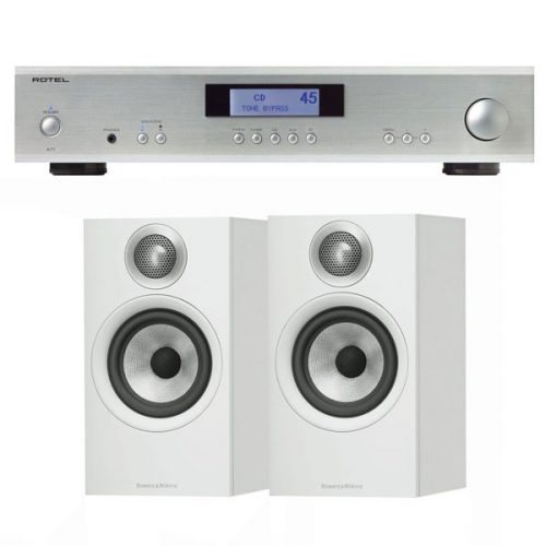 pack-estereo-rotel-a11-silver-bw-606-white